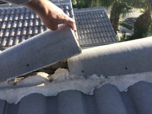 Unsecured ridge cap tiles
