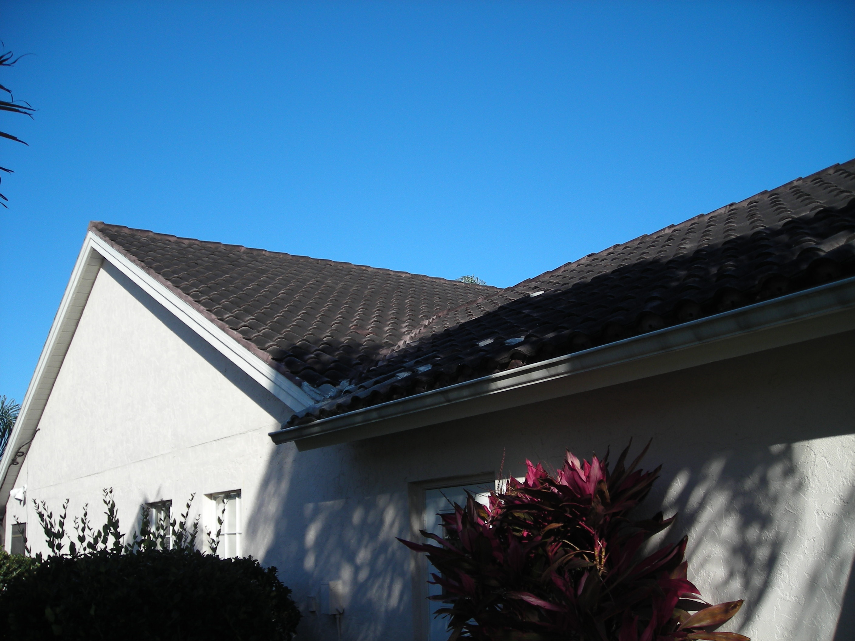 no pressure roof cleaning before1